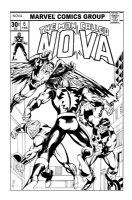 Nova #6 Cover Recreation by MC Wyman Comic Art