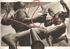 Daredevil vs Bullseye By J.K. Woodward Comic Art