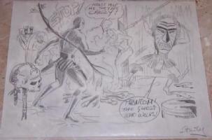 Phantom (L'Uomo Mascherato) - Romano Felmang - disegno preliminare Comic Art