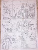 Phantom (L'Uomo Mascherato) - Romano Felmang - Tavola preliminare a matita Comic Art