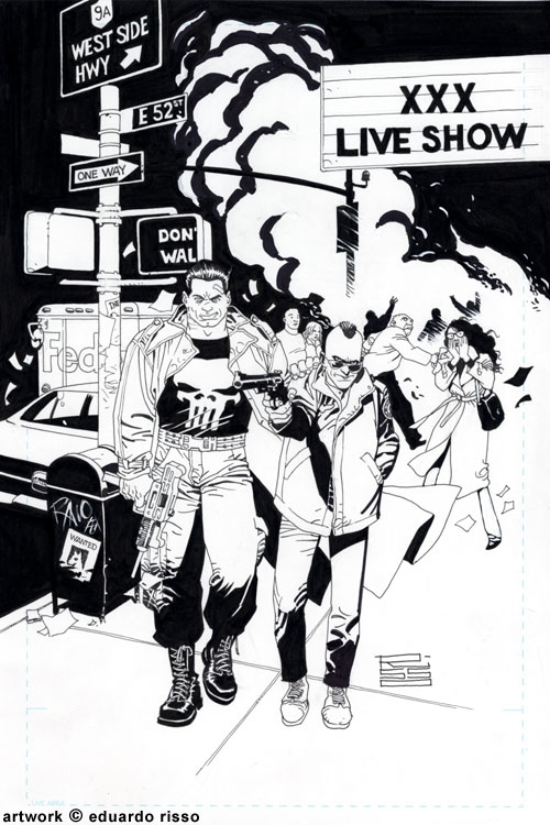 PUNISHER/TAXI DRIVER (Eduardo Risso) Comic Art