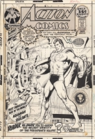 ACTION COMICS #405 Cover Comic Art