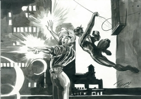 Dazzler // J.K. Woodward // Commission (w/ Nightwing) Comic Art