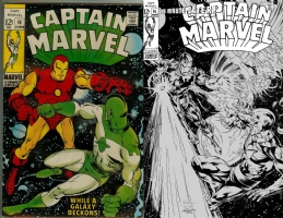Captain Marvel #14 - Robson Rocha & Joe Rubinstein - One Minute Later Comic Art