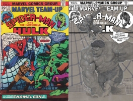 Marvel Team-Up #27 - Ariel Olivetti One Minute Later Comic Art