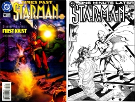 Starman #18 - Tony Harris & Joe Rubinstein - One Minute Later Comic Art