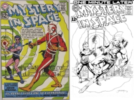 Mystery in Space #75 - Jann Galino - One Minute Later - Adam Strange and Kanjar Ro Comic Art