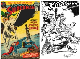 Superman #249 - Jose Luis Garcia Lopez & Joe Rubinstein - One Minute Later Comic Art