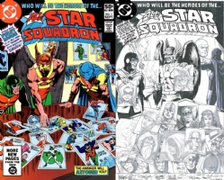 All Star Squadron #1 - Brian Bolland, Garry Leach JAM Piece - One Minute Later Comic Art