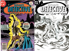 Detective Comics #469 - Francis Portela - One Minute Later, Comic Art