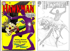 Hawkman #5 - Adam Kubert - One Minute Later Comic Art