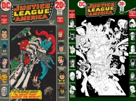 Justice League of America #101 - Conley, Perez, Chaykin, Grell, Romita Jr, ONE MINUTE LATER Comic Art
