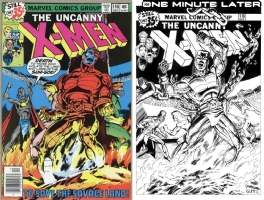 X-Men #116 - Steve Gumm - One Minute Later Comic Art