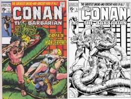 Conan #7 One Minute Later - Lawrence Schwinger & Joe Rubinstein Comic Art