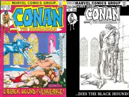Conan #20 - Manon Delacroix  & Joe Rubinstein- One Minute Later Comic Art