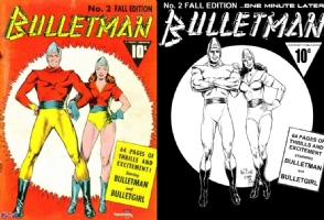 Bulletman #2 - Ken Bald & Chris Ivy - One Minute Later Comic Art