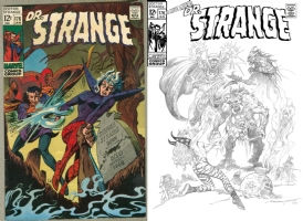 Dr. Strange #176 - Esteban Maroto - One Minute Later Comic Art