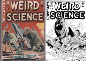 Weird Science #15 - Sta Maria & Taylor - One Minute Later Comic Art