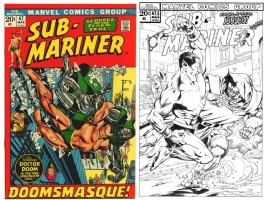 Sub-Mariner #47 - Dave Ross & Joe Rubinstein - One Minute Later Comic Art