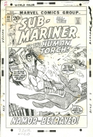 Sub-Mariner #44 - Torch v. Subby - Gil Kane, Comic Art