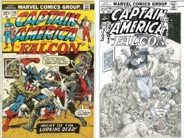 Captain America #166 - Garrie Gastonny - One Minute Later, Comic Art