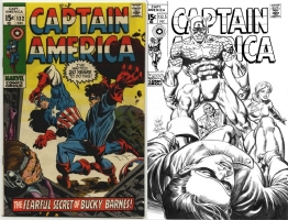 Captain America #132 - Netzer/Rubinstein One Minute Later Comic Art