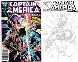 Captain America Annual #8 - Joe Quesada - One Minute Later, Comic Art