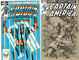 Captain America #260 - Ken Steacy - One Minute Later Comic Art