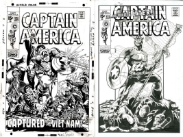 Captain America #125 - Don Hillsman II - ONE MINUTE LATER Comic Art
