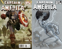 Captain America #615.1 - Stephane Roux - One Minute Later Comic Art