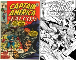 Captain America #136 - DeCaire and Rubinstein - One Minute Later Comic Art