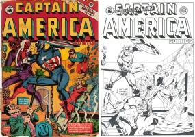Captain America Comics #16 - ONE MINUTE LATER - MC WYMAN - TERRIFIC!!!! Comic Art