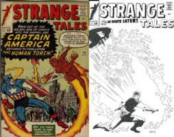 Strange Tales #114 - Daniel Acu�a - One Minute Later Comic Art
