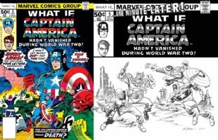 What If #5 - Cap & Bucky - Sal Buscema & Jim Cheung - ONE MINUTE LATER, Comic Art