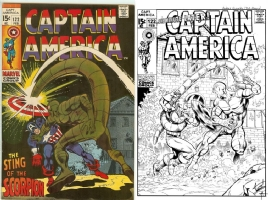 Captain America #122 - Andres Guinaldo & Bob Almond - One Minute Later Comic Art