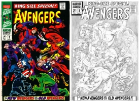 Avengers King Size #2 - Alan Davis - One Minute Later Comic Art
