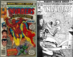 Invaders #22 - Allan Goldman/Huet - One Minute Later Comic Art