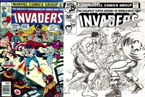 Invaders #14 - Trevor Von Eeden - One Minute Later Comic Art