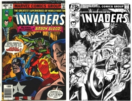 Invaders #40 - Eric Koda & Joe Rubinstein - One Minute Later Comic Art