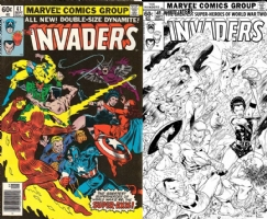 Invaders #41- DC Superstar Robson Rocha - ONE MINUTE LATER Comic Art