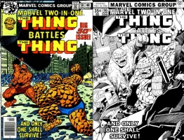 Marvel Two-In-One #50 - Barry Kitson - Thing v. Thing, Comic Art