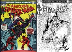 Amazing Spider-Man #136 - Stephen Segovia & Bob Almond - One Minute Later, Comic Art
