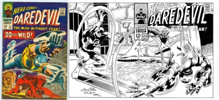 Daredevil #23 - Gene Colan with Tom Schloendorn inks - One Minute Later Comic Art