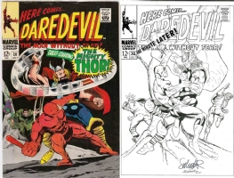 Daredevil #30 - Salvador Larroca & Joe Rubinstein - One Minute Later Comic Art