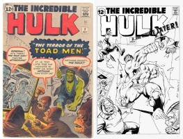 Hulk #2 - One Minute Later - MC Wyman and Joe Rubinstein Comic Art