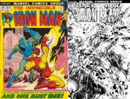 Iron Man #46 - Philip Tan and Bob Almond - ONE MINUTE LATER Comic Art