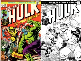 Hulk #181 - Art Adams & Barry Kitson - One Minute Later Comic Art