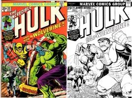 Hulk #181 - Art Adams & Barry Kitson - One Minute Later Comic Art