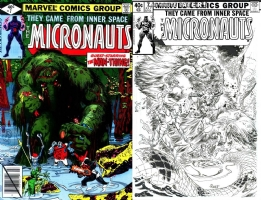Micronauts #7 - TOM RANEY - One Minute Later Comic Art
