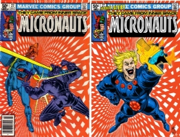 Micronauts #27 - Steve Kurth & Barbara Schulz with Andrew Allen colors - One Minute Later   Comic Art